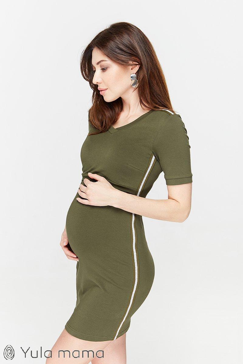 Платье-туника для беременных и кормящих Gina хакки