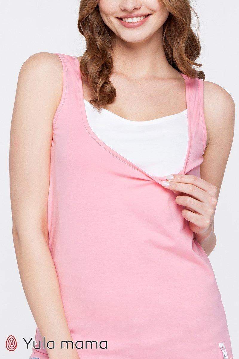 Майка для беременных и кормящих мам Tilla ярко-розовая