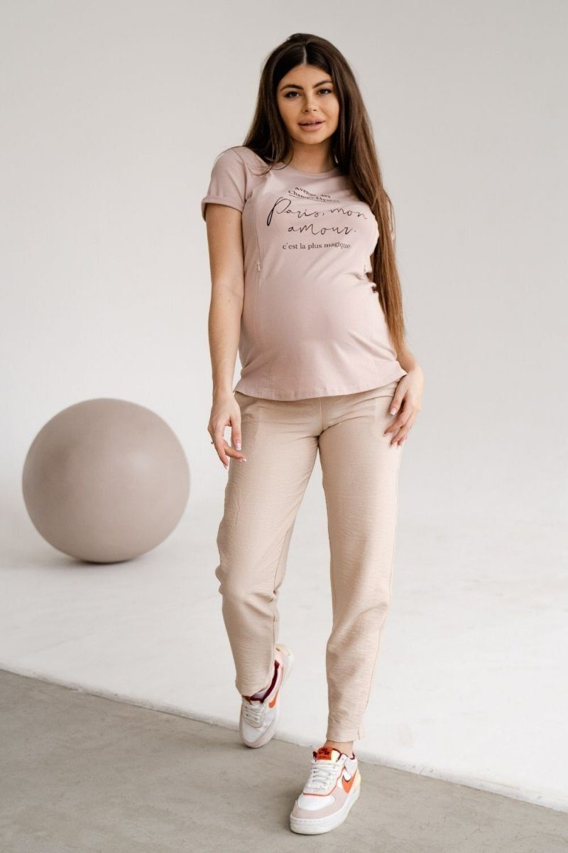 Штани для вагітних 1153732 кремовий