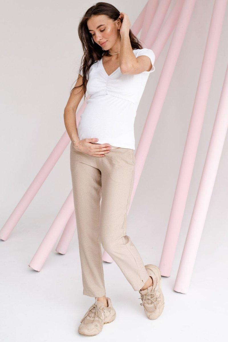 Брюки для беременных 1153732 бежевый