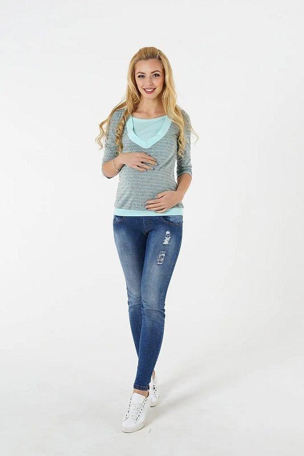 Джинсы для беременных 1163729-5 синий варка 2
