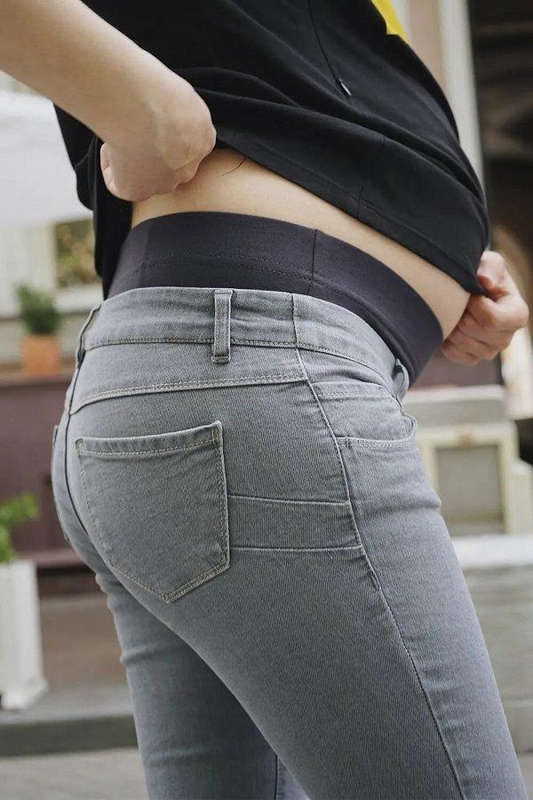 Джинсы для беременных 1225460-7 серый варка 1