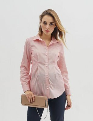 Рубашка для беременных 1308-224 красная полоска