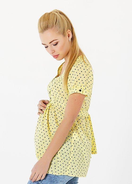 Блуза для беременных и кормящих 131717215 желтая