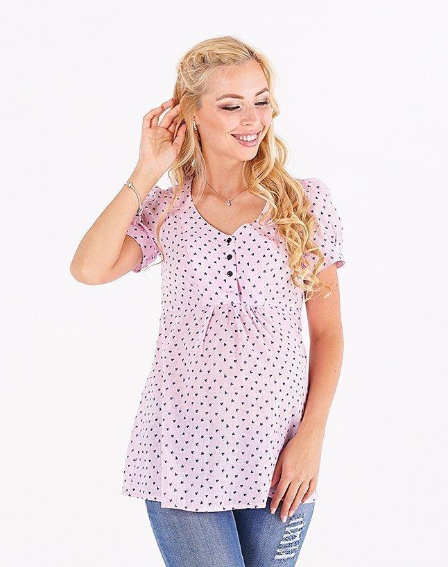 Блуза для беременных и кормящих 131717215 розовая
