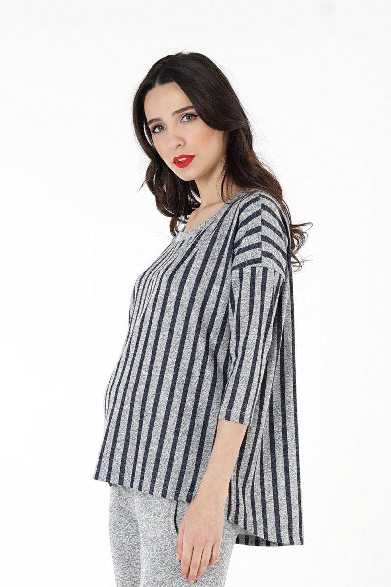 Джемпер для беременных 1330257 серый