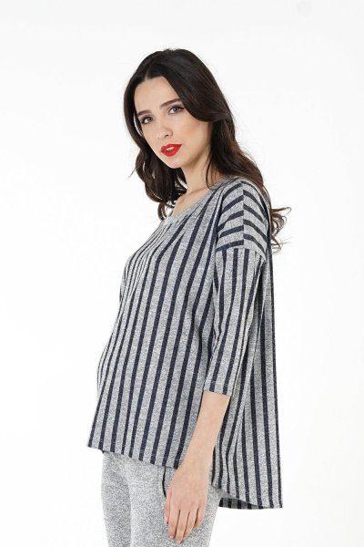 Джемпер для беременных 1330-257 серый