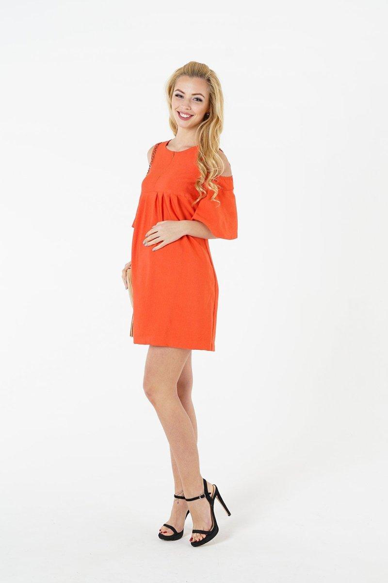 Платье для беременных и кормящих 1384169 коралловый sale