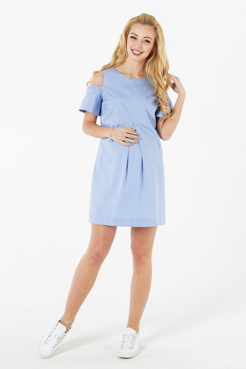 Платье для беременных 1389225 голубой
