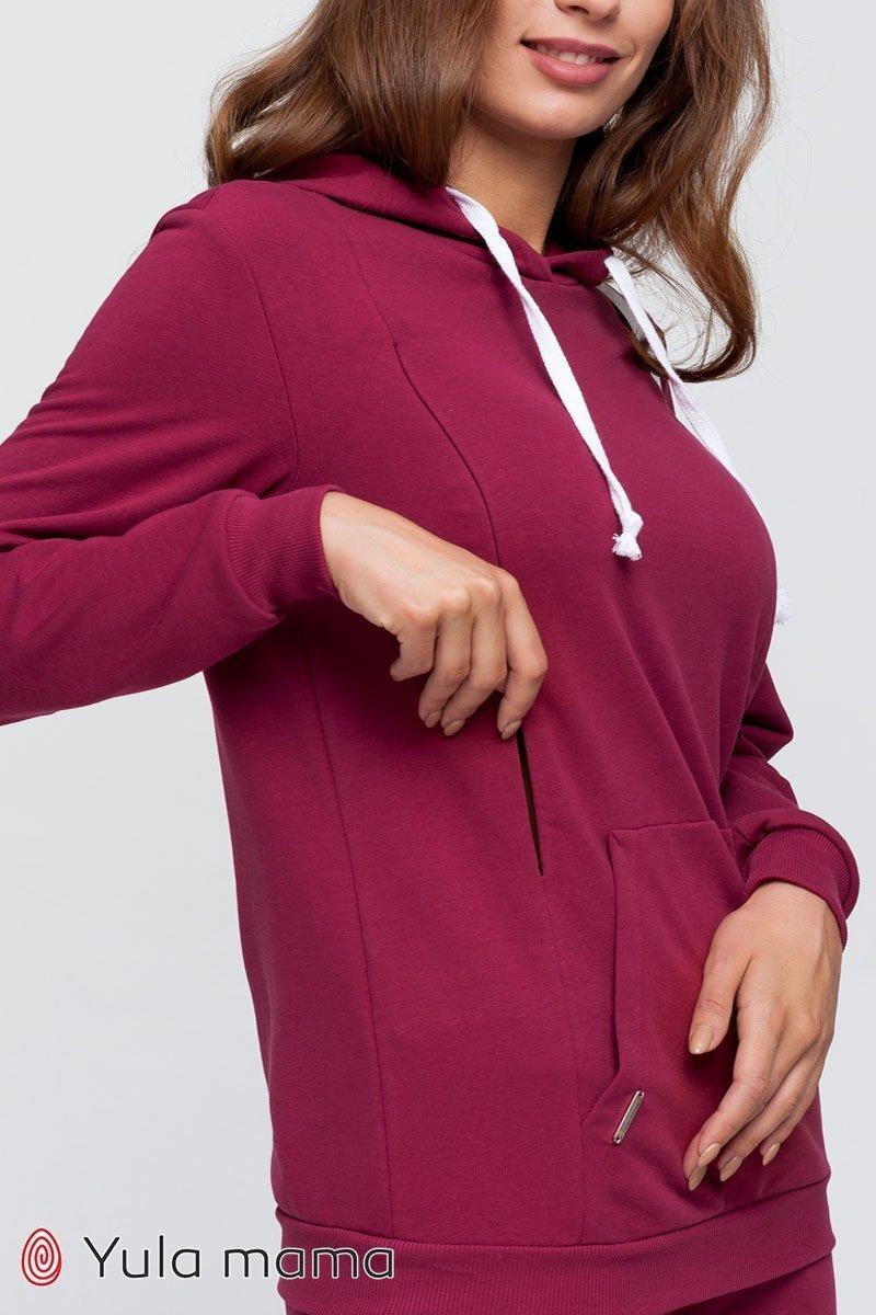 Спортивный костюм для беременных и кормящих Allegro вишневый