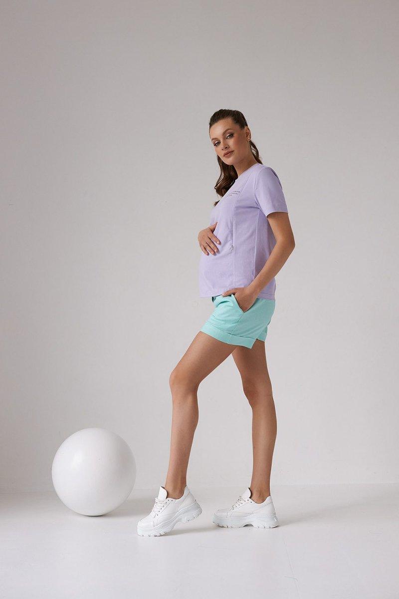 Футболка для беременных и кормящих 2158 1539 лавандовый
