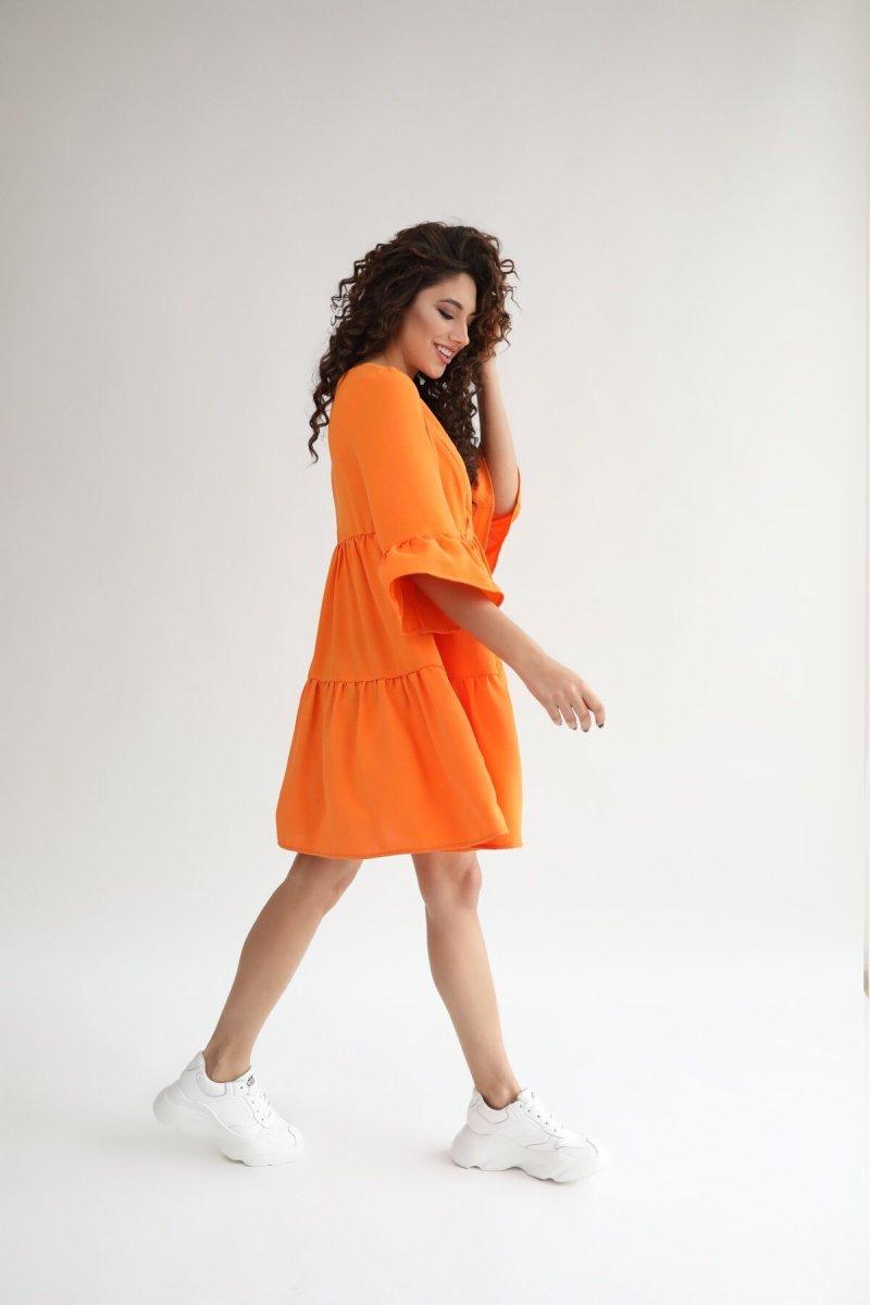 Платье для беременных 1459711 апельсиновый