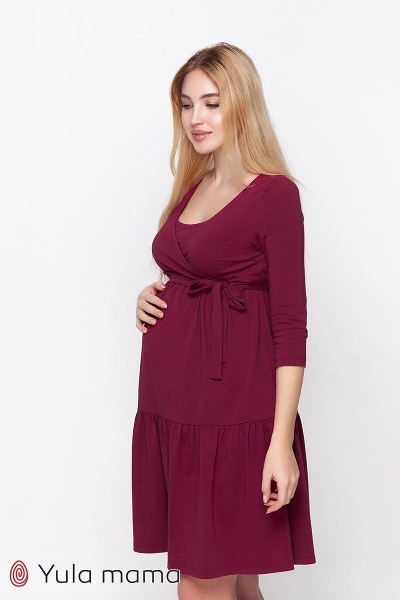 Нарядное платье Tara бордовое