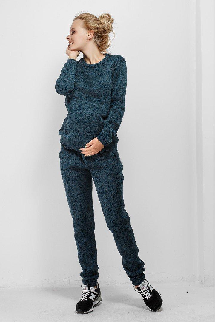 Кофта для беременных и кормящих 1753-0000 зеленая