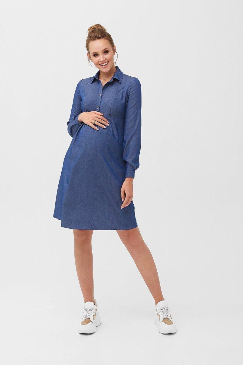 Платье для беременных и кормящих 1763 0000 синий