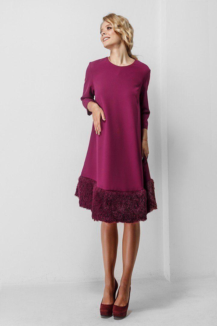 Платье для беременных 1774-1015 Бордовое