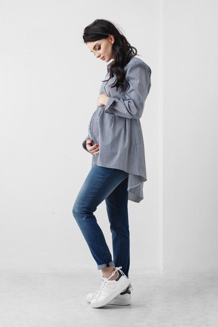 Рубашка для беременных и кормящих 1802 1031 серая