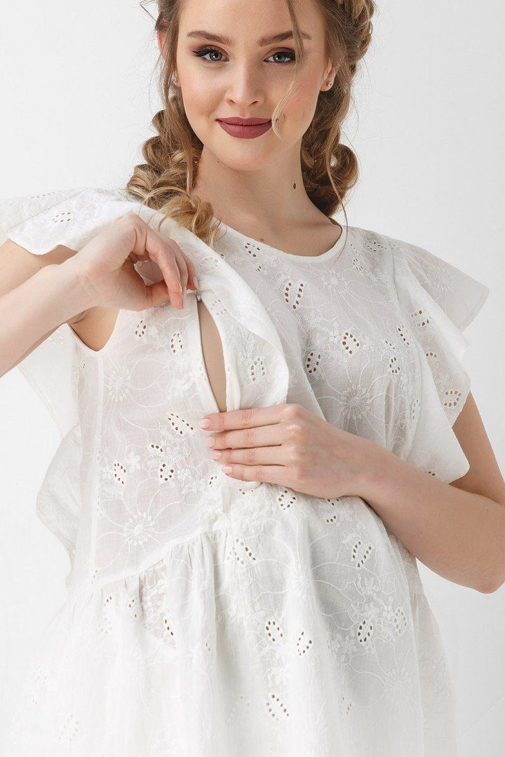 Блуза для вагітних і годуючих 1948 1102 біла