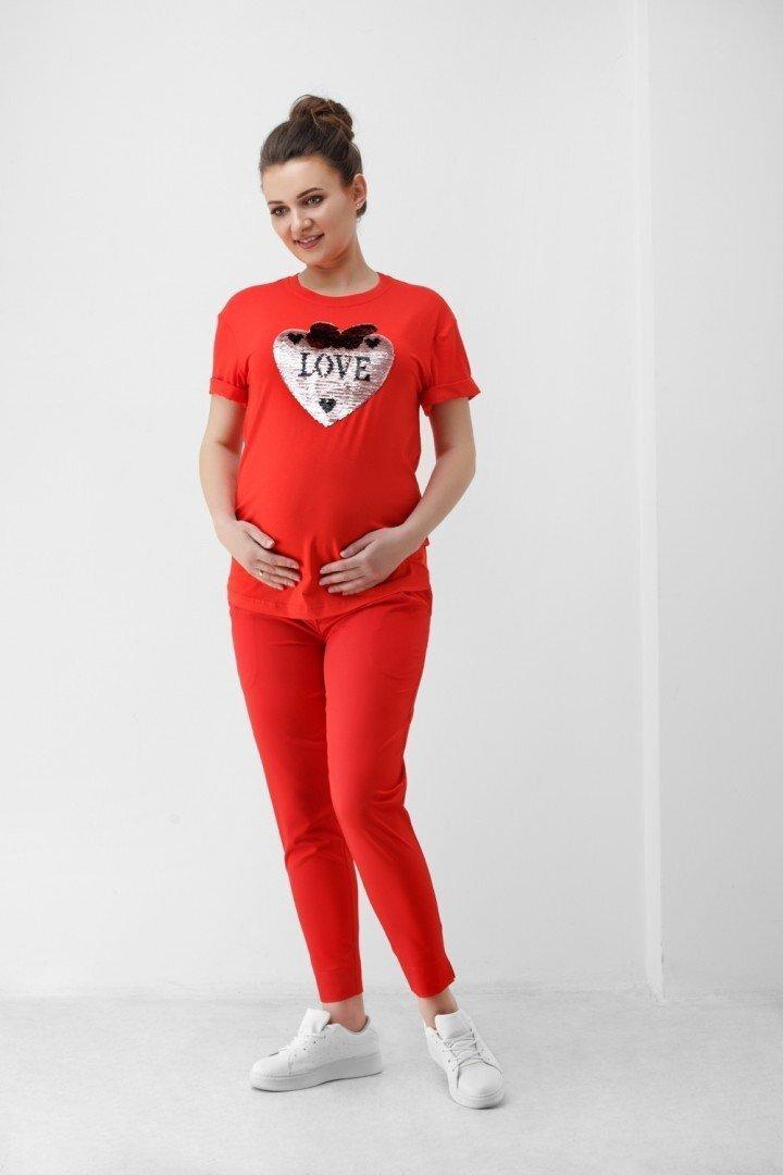 Футболка для беременных 1839 0006 красная