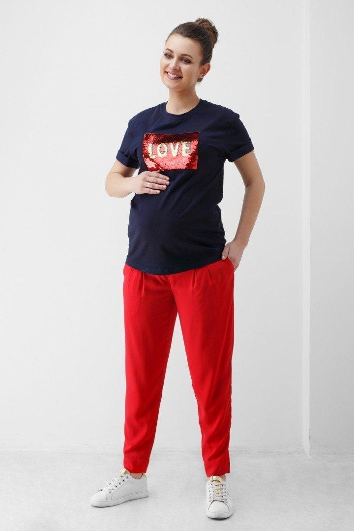 Штаны для беременных 1848 0001 красный