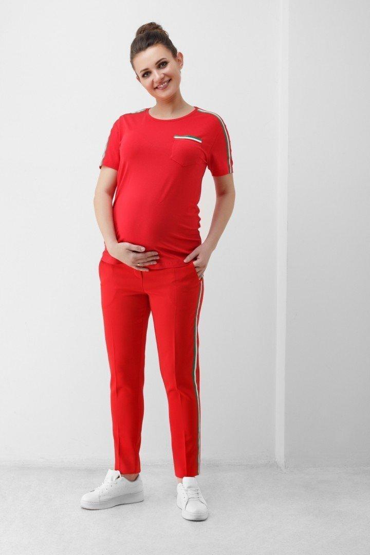 Штаны для беременных 1818 0629 красные