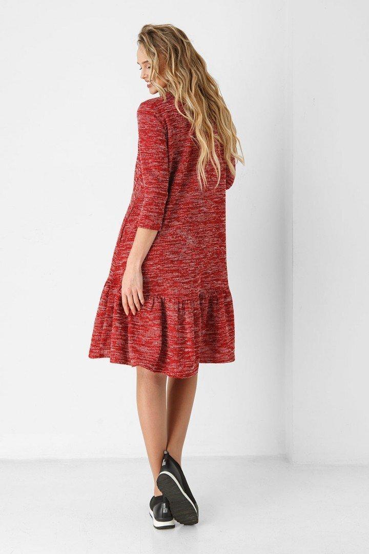 Платье для беременных и кормящих 1858-0000 Красный меланж