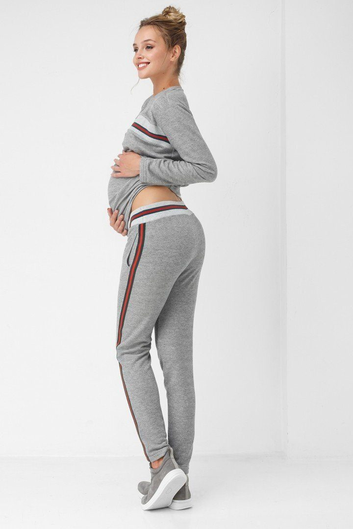Штаны для беременных 1867-1061 серые
