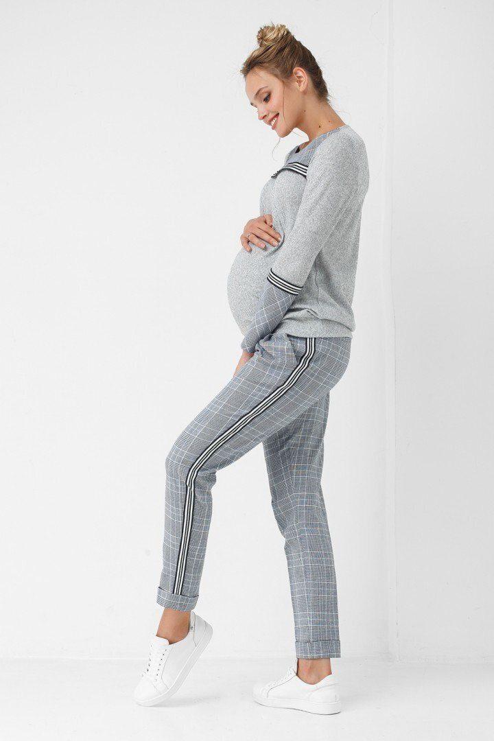 Штаны для беременных 1864-1062 серые