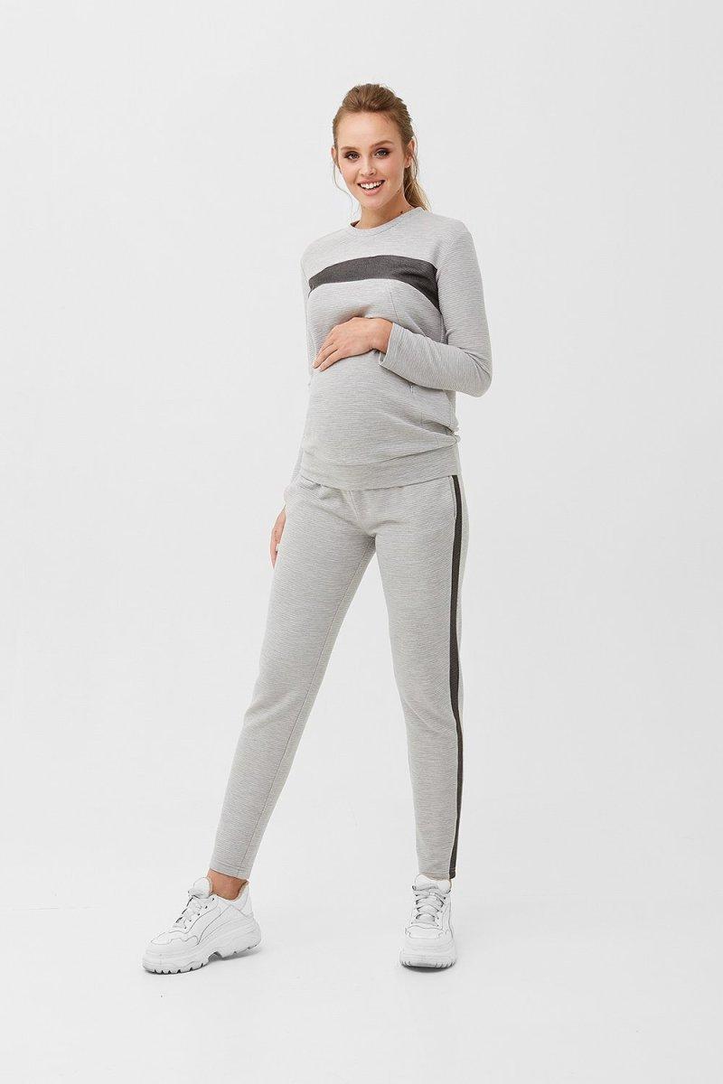 Кофта для беременных и кормящих 1990 1230 серый