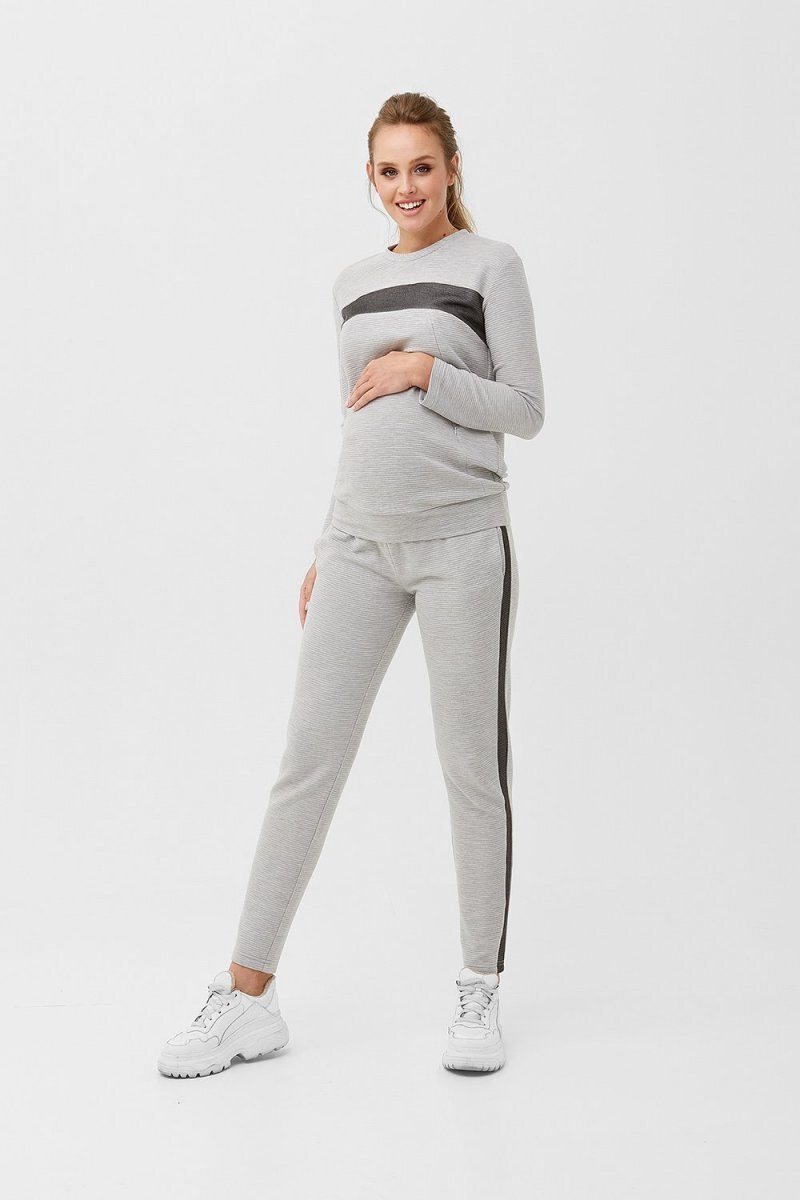 Штаны для беременных 1879 1230 серый