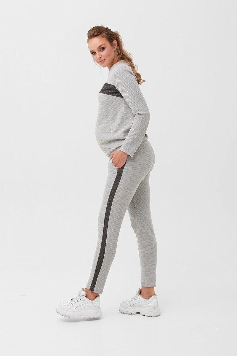 Спортивный костюм для беременных и кормящих 1990 1230 серый