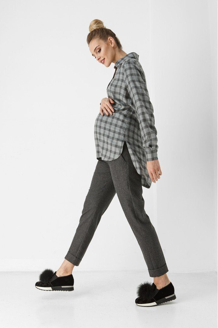 Штаны для беременных 1883-0000 темно-серые