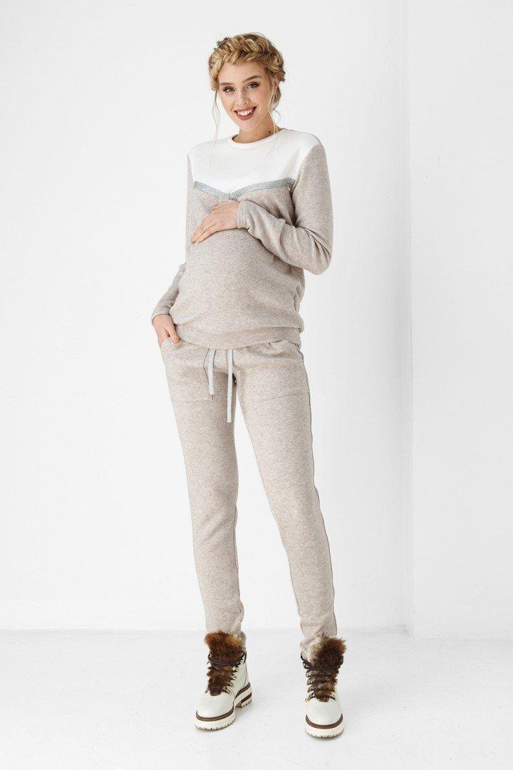 Спортивные брюки для беременных 1898-0000 бежевые