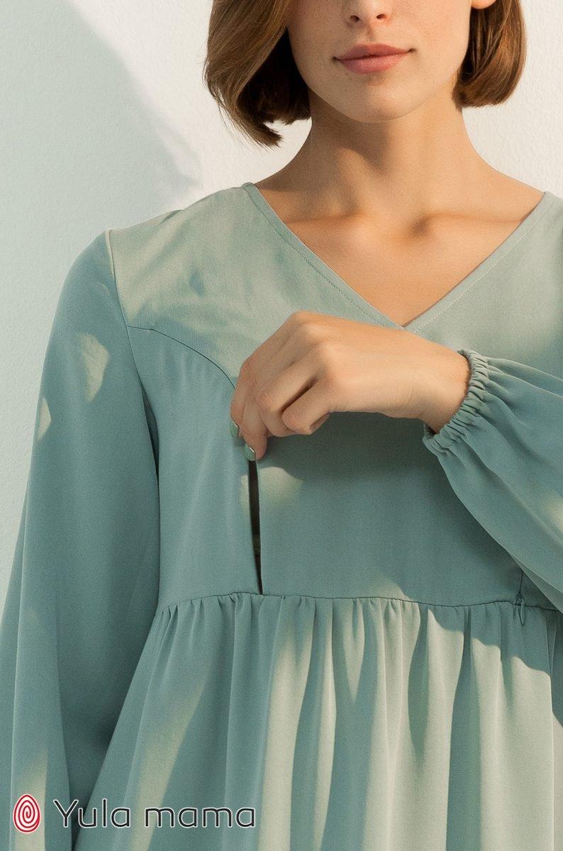 Платье для беременных и кормящих Tiffany полынь