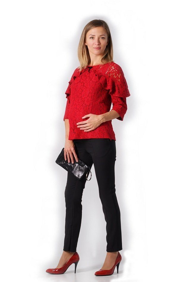 Нарядная блуза для беременных и для кормления Яркий праздник