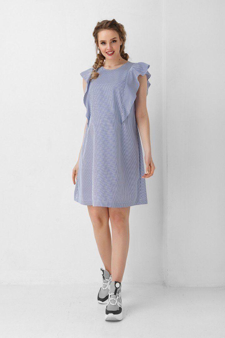 Платье для беременных и кормлением 1940 1034 голубое