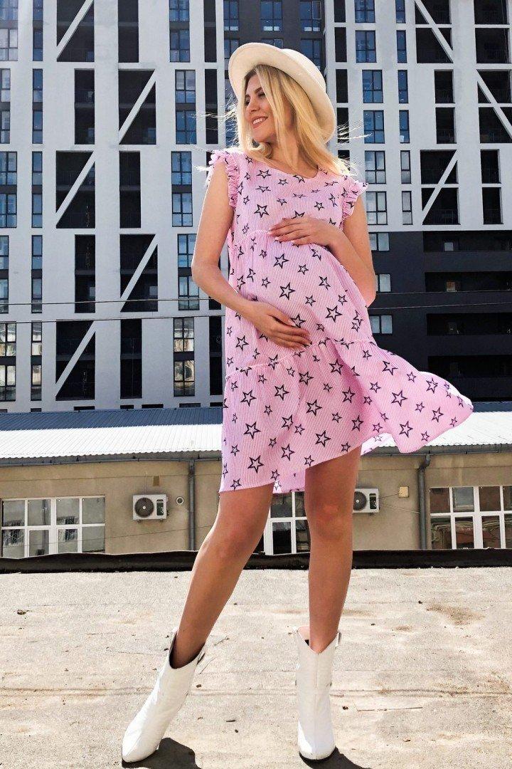 Плаття для вагітних і годуючих 1949 1345 Рожеве