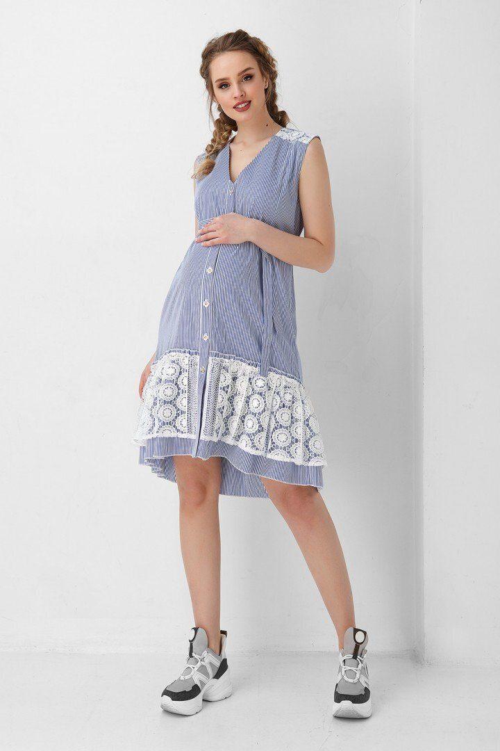 Платье 1954 1034 голубой