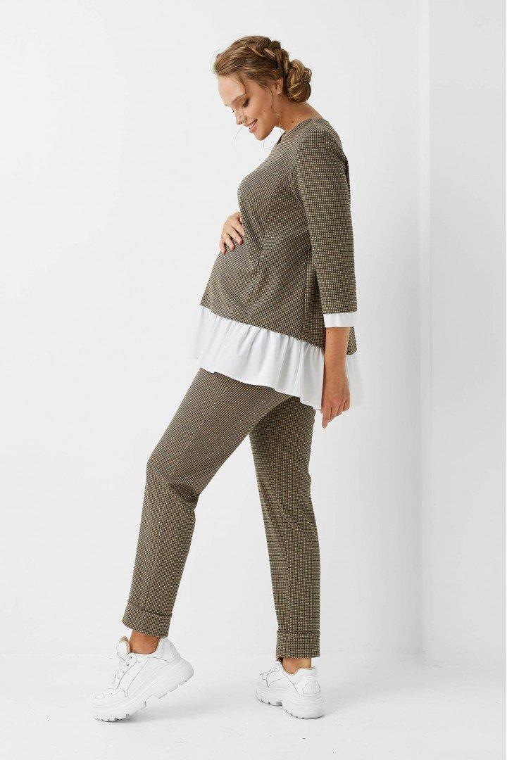 Блуза для беременных и кормящих 1958-1203 бежевая