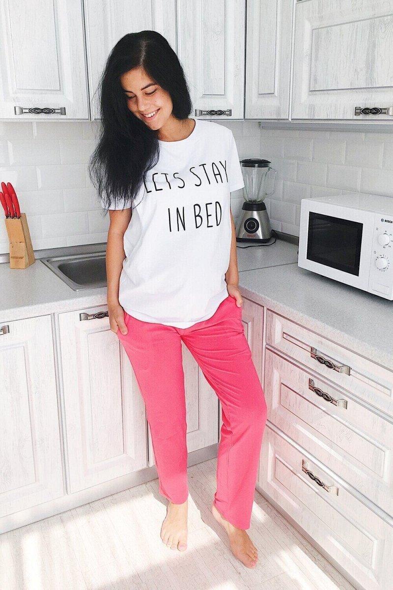 Домашние брюки для беременных 3110041 коралловые