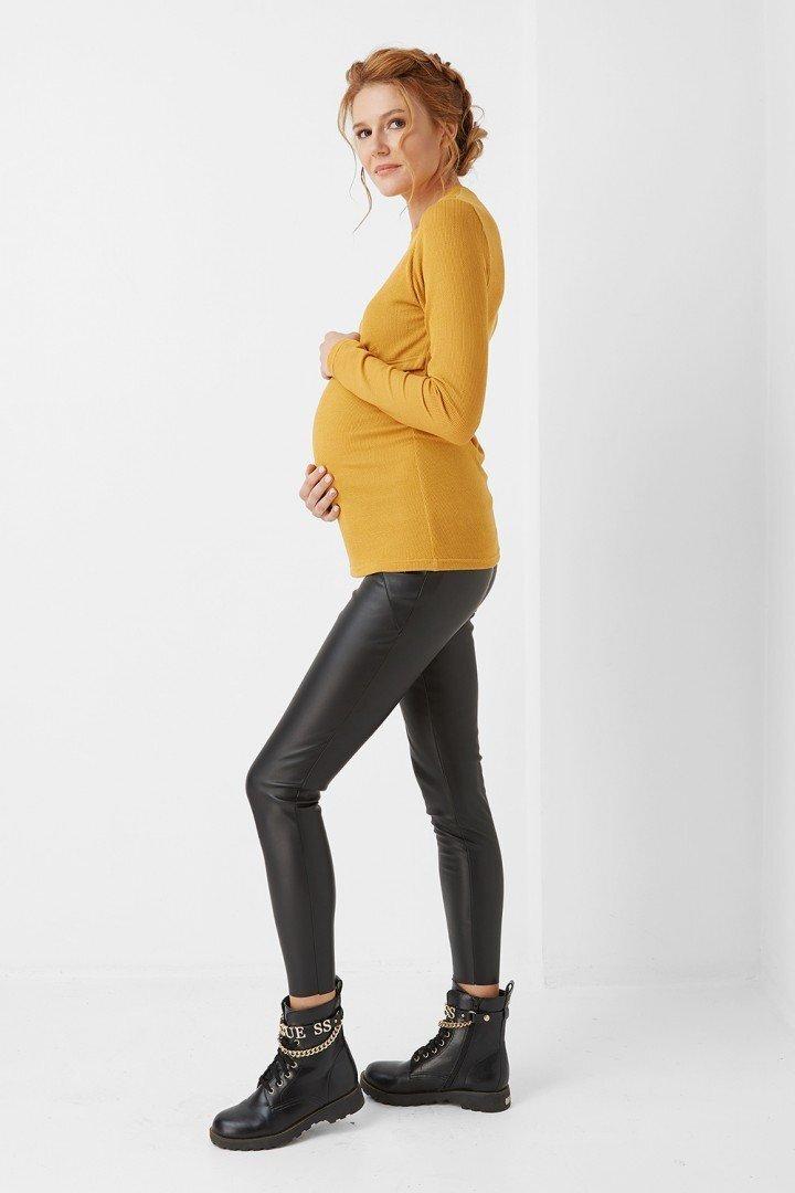 Кофта для беременных 1983-0001 горчичная