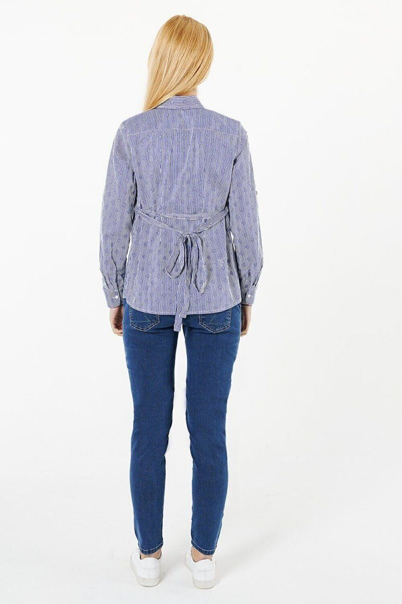 Блуза для беременных 1379224 синий