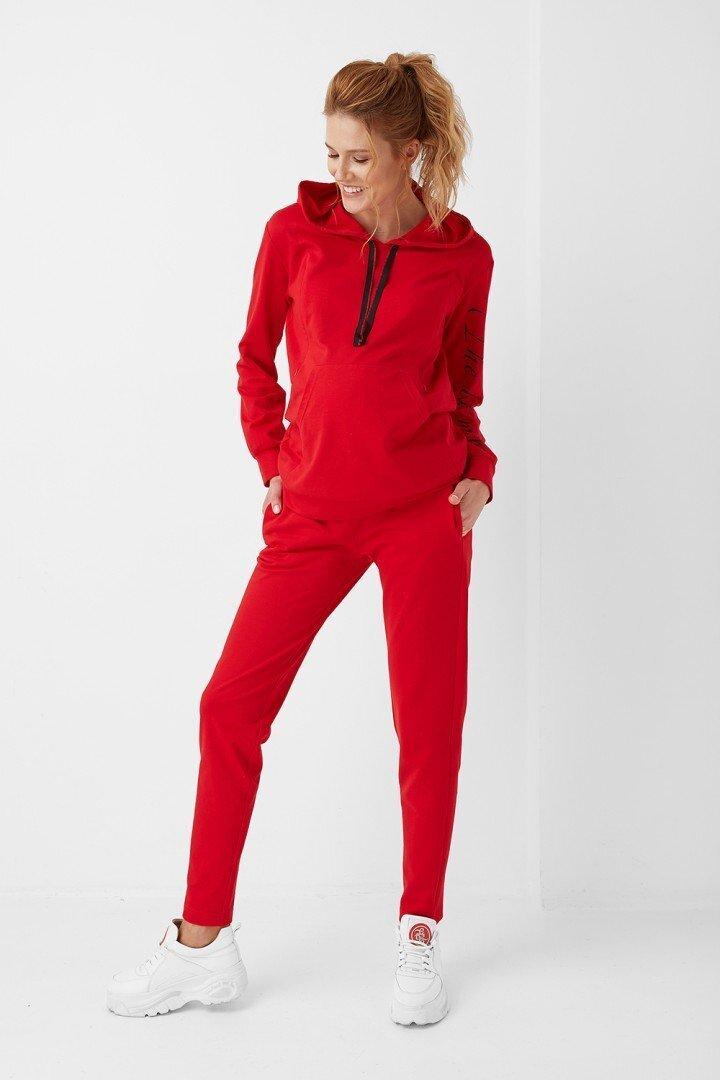 Спортивные брюки для беременных 1913-0557 красные