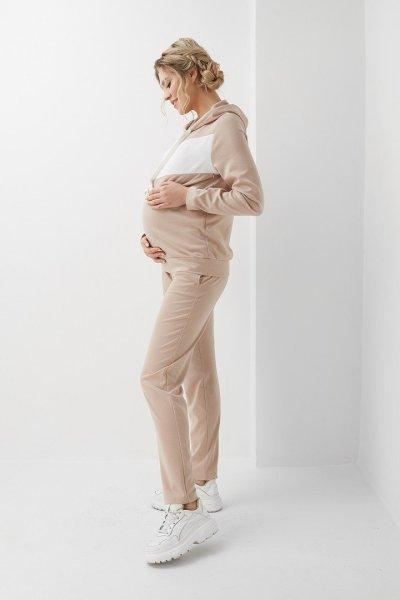 Кофта для беременных и кормящих 2005 1048 бежевая