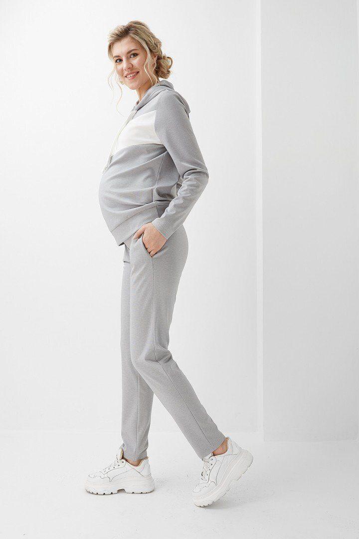Кофта для беременных и кормящих 2005 1360 серая