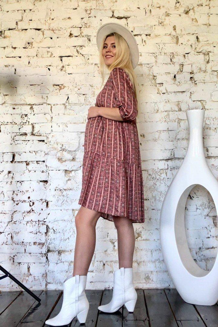 Платье для беременных и кормящих 2008 1103 терракотовое