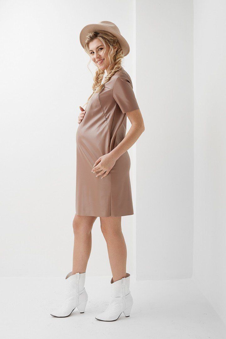 Платье для беременных и кормящих 2010 1309 бежевое
