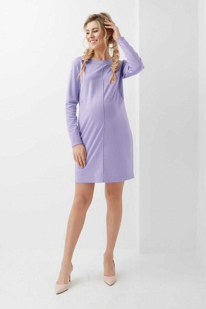 Платье для беременных и кормящих 2020 1315 фиолетовое
