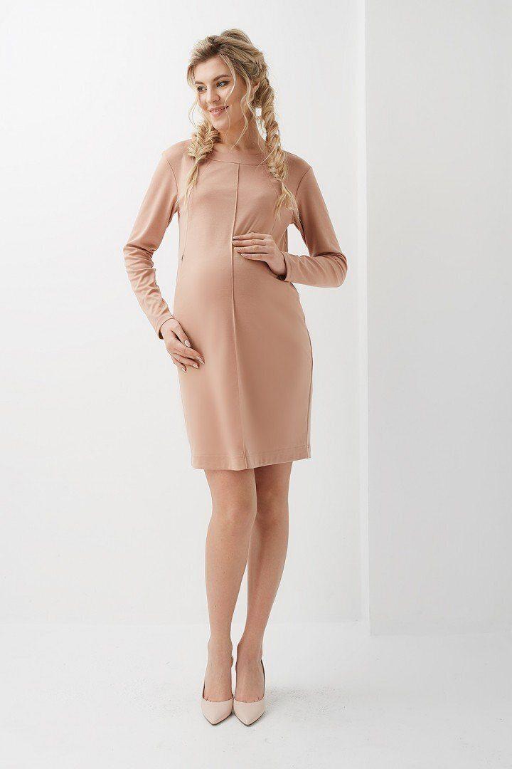 Платье для беременных и кормящих 2020 1313 карамель
