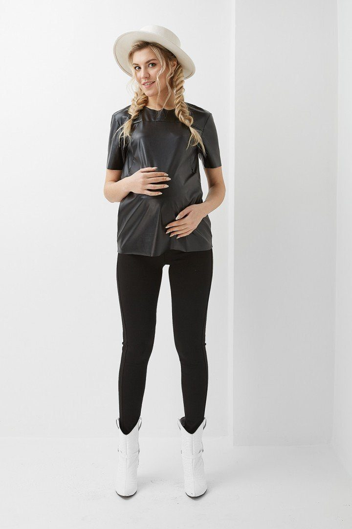Туника для беременных и кормящих 2023 1309 черная